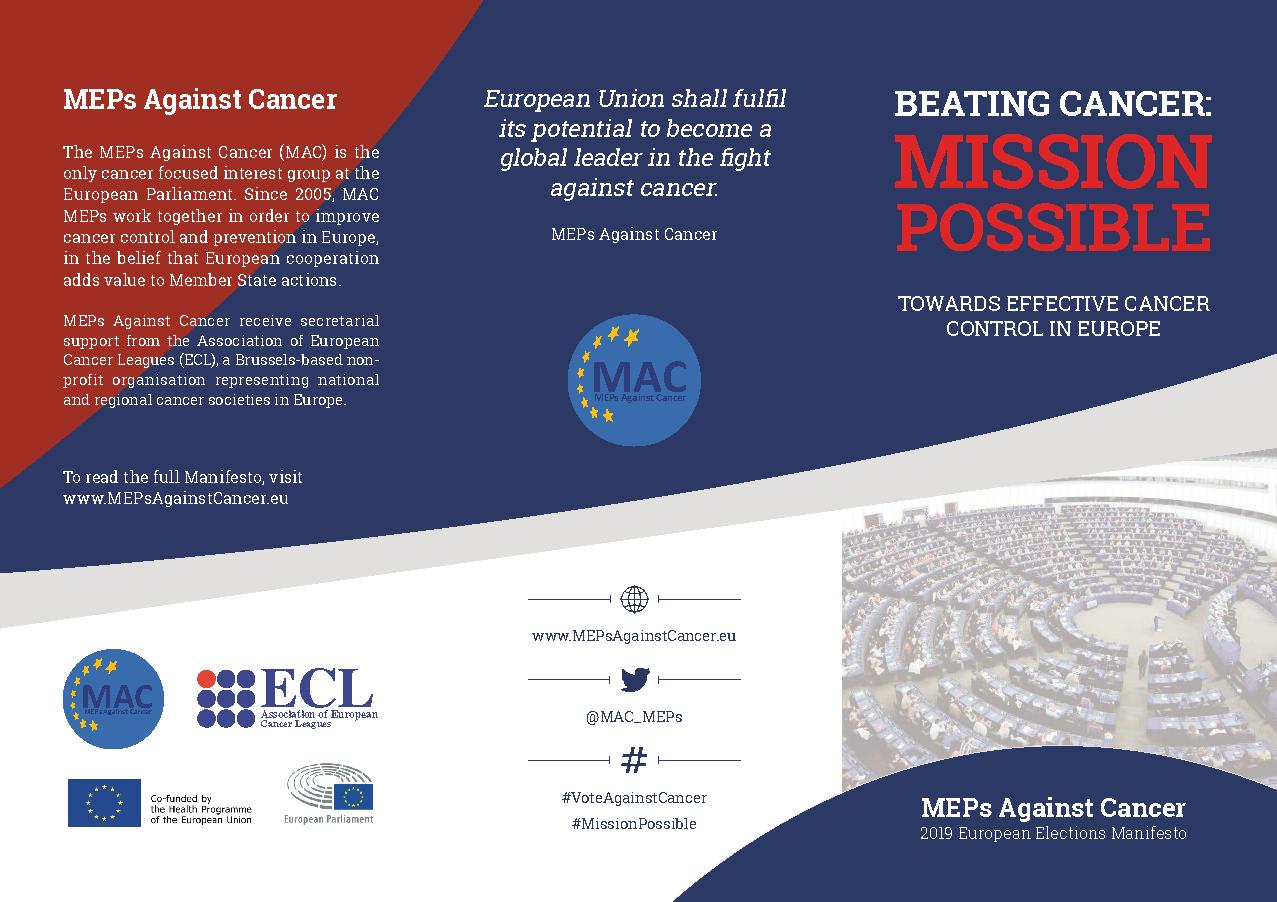 MAC 2019 Manifesto – Association of European Cancer Leagues